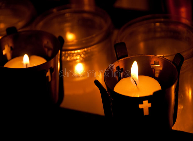 Download Candles of Faith stock image. Image of dark, faith, holiday - 12482795