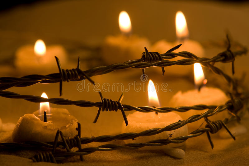 Candles for freedom stock photography