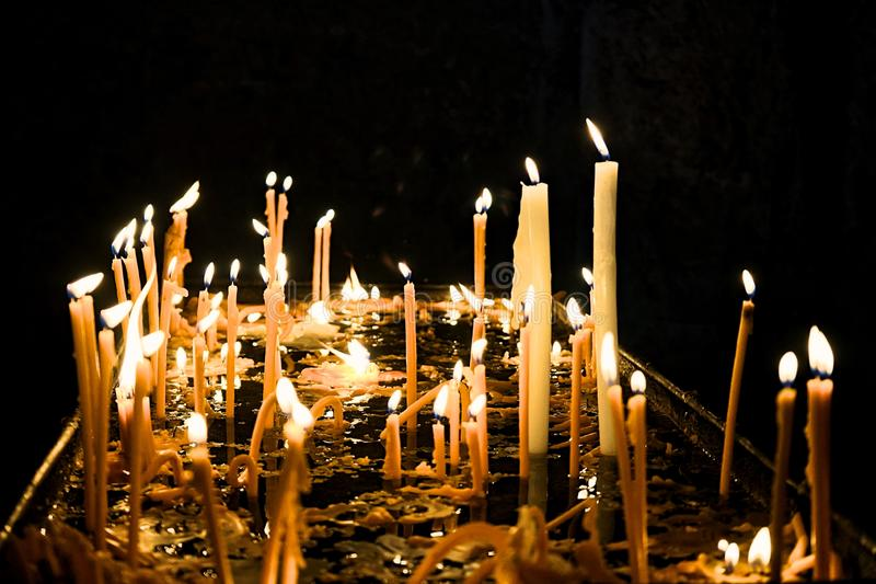 Light up the candles, light up the hope royalty free stock photography