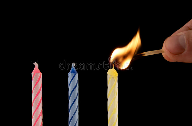 Download Candles ignition stock photo. Image of ignition, colourful - 19043604