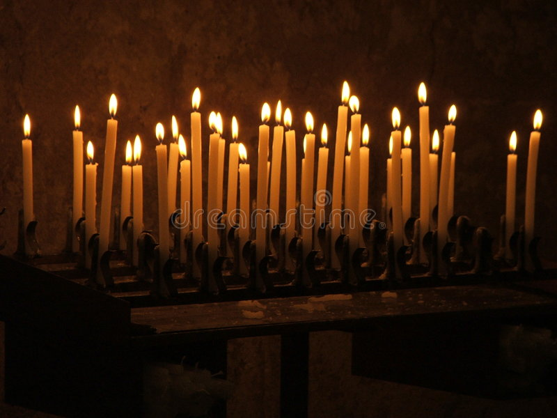 Download Candles lights stock image. Image of church, dark, candles - 225075