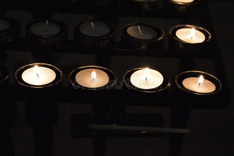 Candles at the local church royalty free stock image