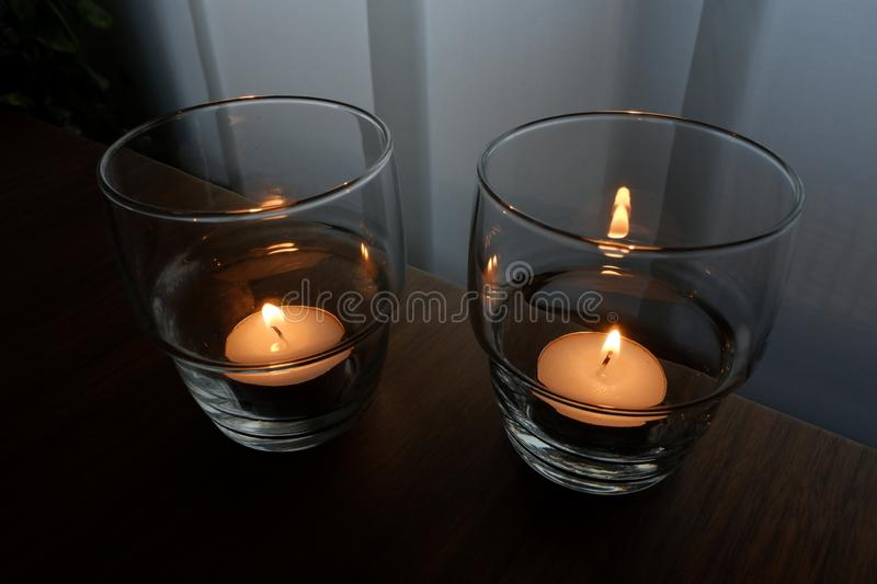 Candles for a warm illumination royalty free stock photo