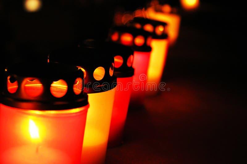 Candles on November stock photo