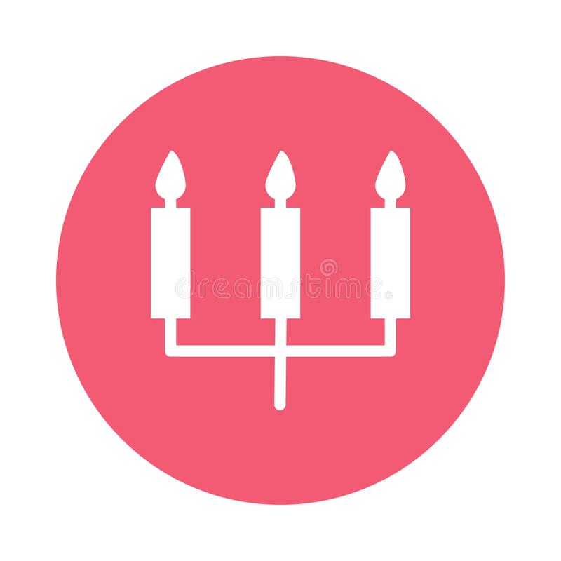 Candles o ícone ilustração royalty free