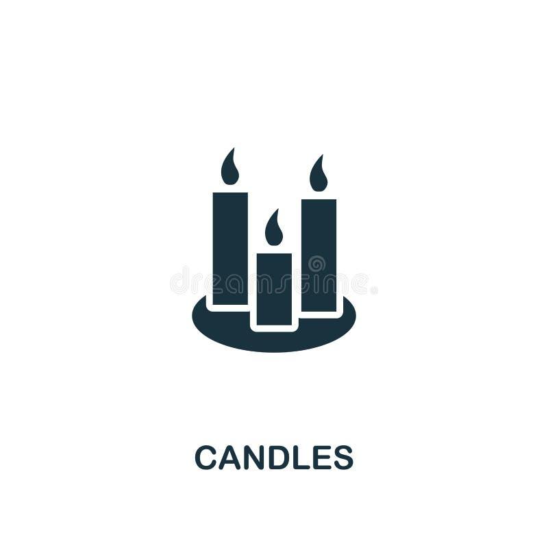 Candles o ícone Projeto criativo do elemento da coleção dos ícones de easter Ícone perfeito para o design web, apps das velas do  ilustração royalty free