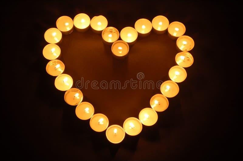 Candles o coração dado forma foto de stock