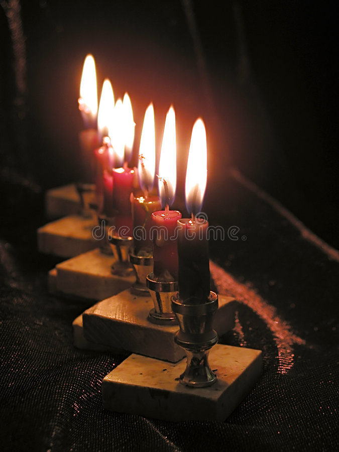 Free Candles Of Chanukkah Royalty Free Stock Photography - 3873047