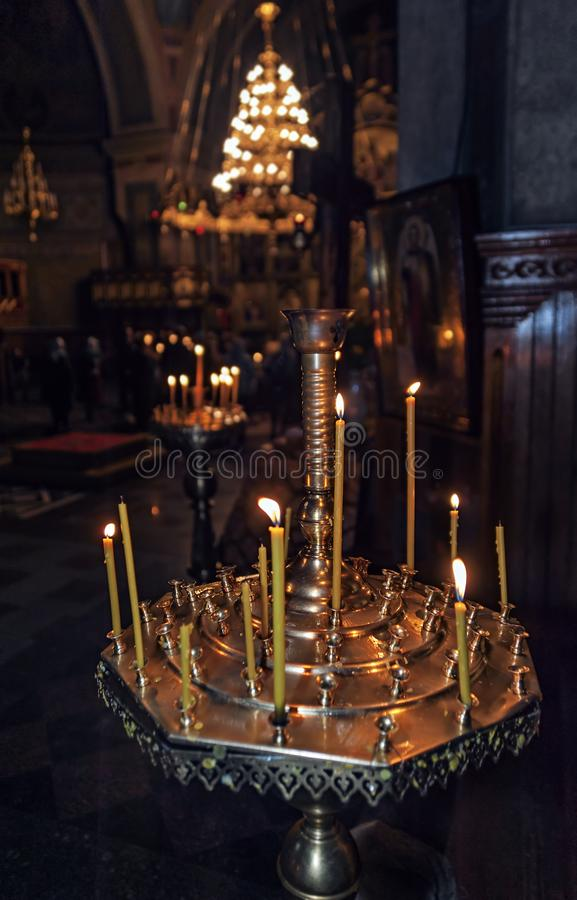 Free Candles Of The Holy Spirit Orthodox Cathedral In Chernivtsi, Ukraine Stock Photos - 106004353