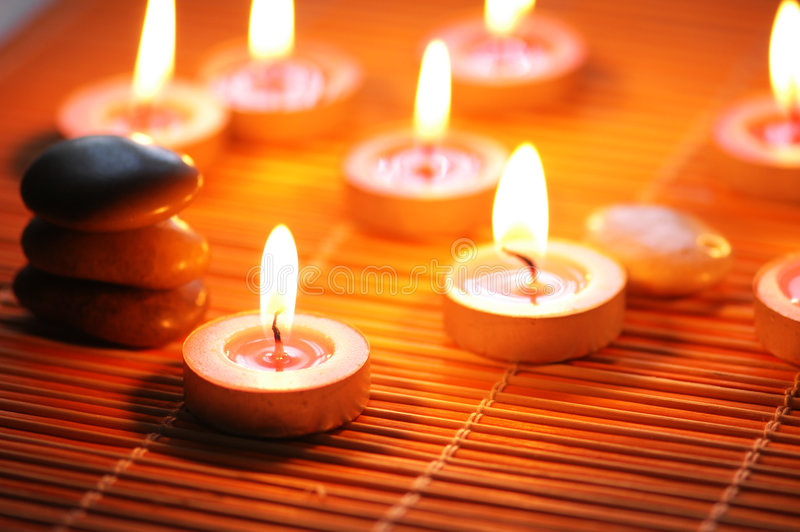 Download Candles And Pebbles For Spa Se Stock Image - Image: 2154281
