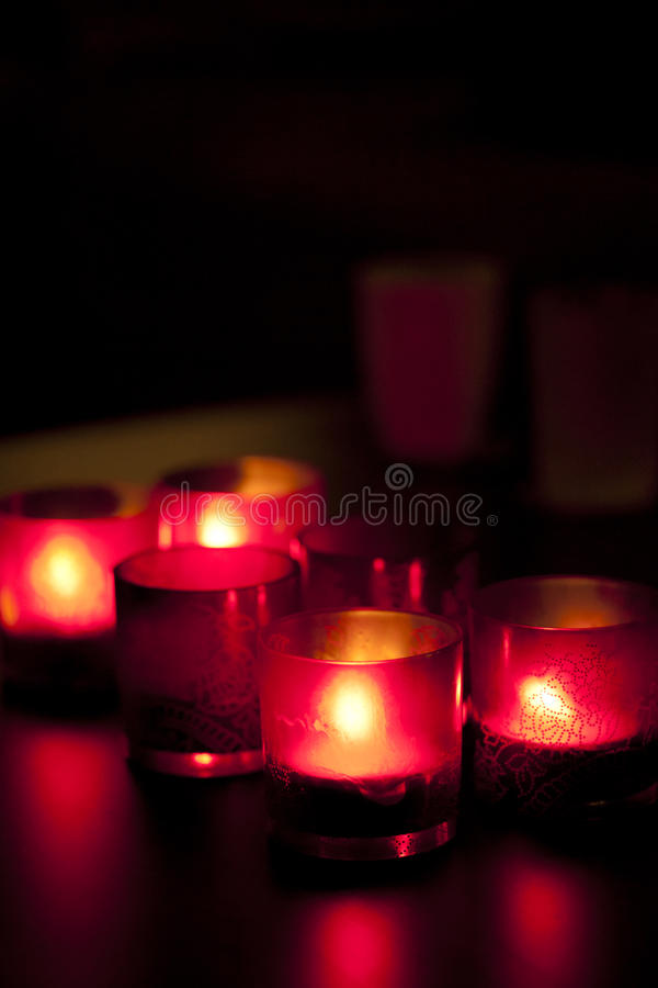 Download Candles In Red Glass Chandeliers. Stock Image - Image of flame, christmas: 22062809