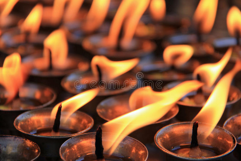 Candles of remembrance royalty free stock images