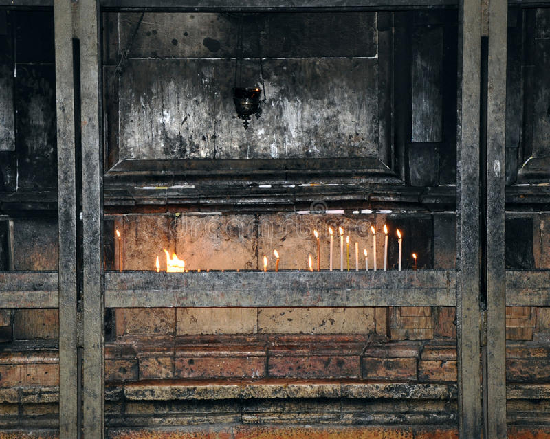 Download Candles On Sepulcher Of Christ Stock Photo - Image: 12905670