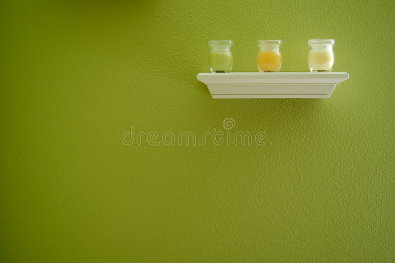 Candles on Shelf stock image