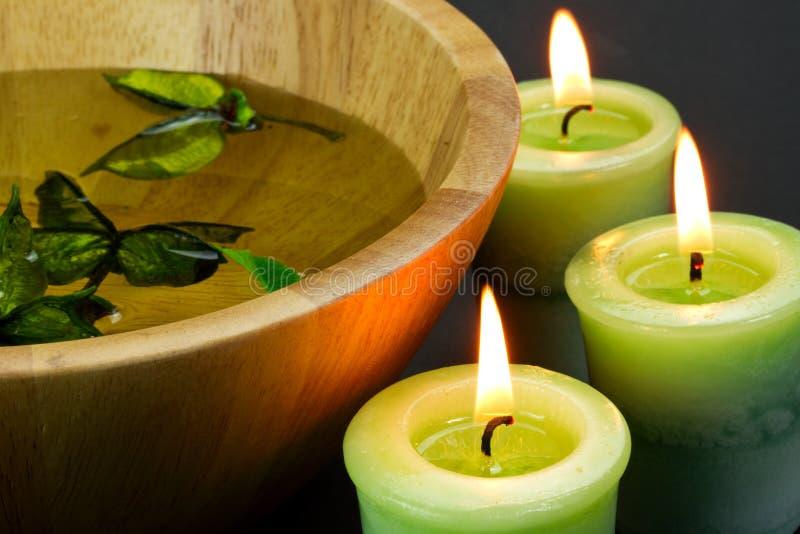 candles spa στοκ εικόνα