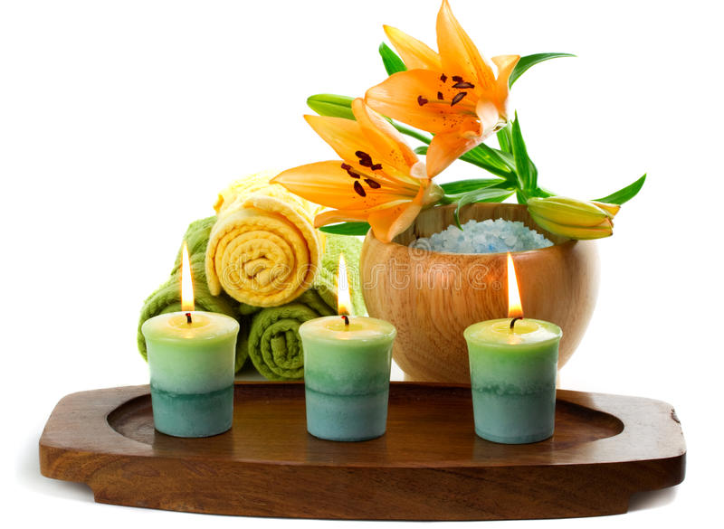 Download Candles And Spa Accessories Stock Image - Image: 18686107