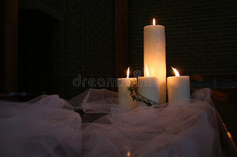 Candles on a table royalty free stock photos