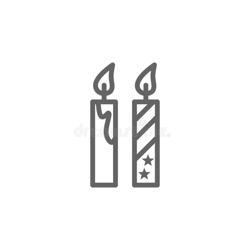Candles, USA icon. Element of 4th of july icon. Thin line icon for website design and development, app development. Premium icon. On white background stock illustration