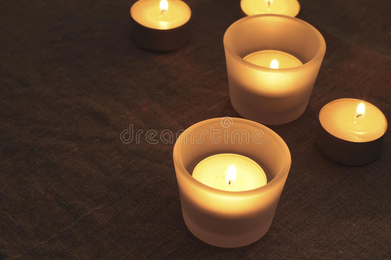 Candles warm light. Warm light of the color of the candle is for us heal the mind royalty free stock images