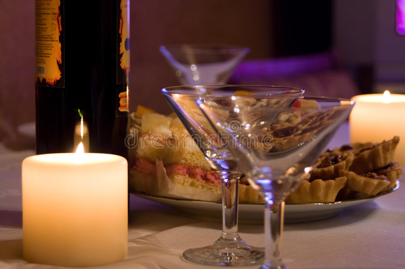 Download Candles,wine And Goblets Royalty Free Stock Photos - Image: 7016988