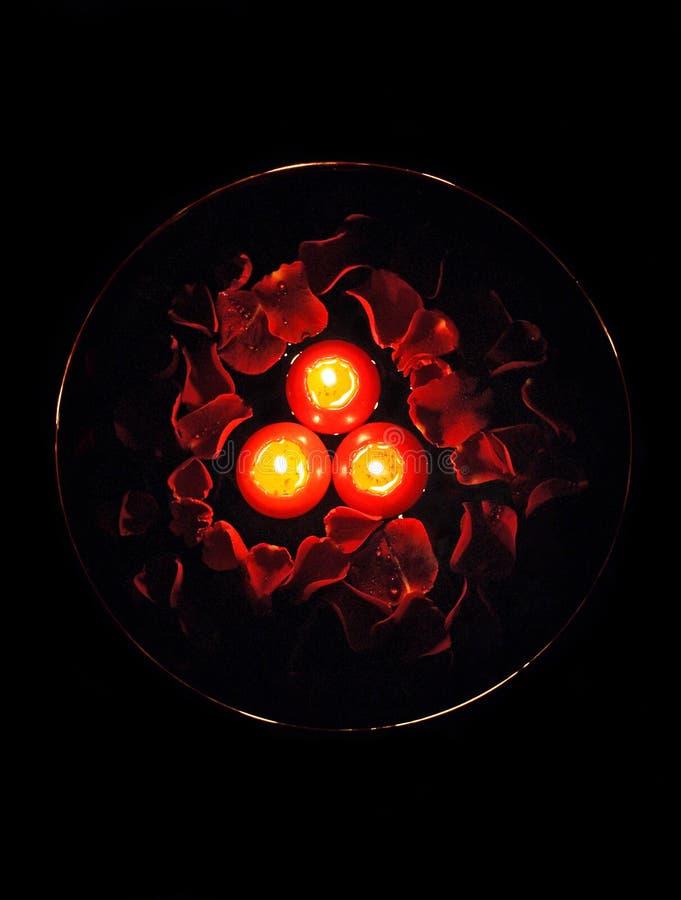 Free Candles With Rose Petals Stock Photos - 739903