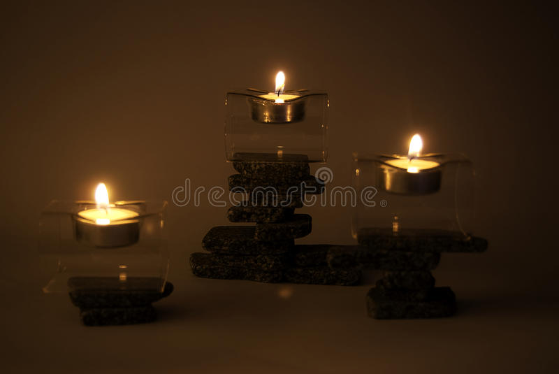 Download Candles on zen stones stock photo. Image of heights, different - 15216578
