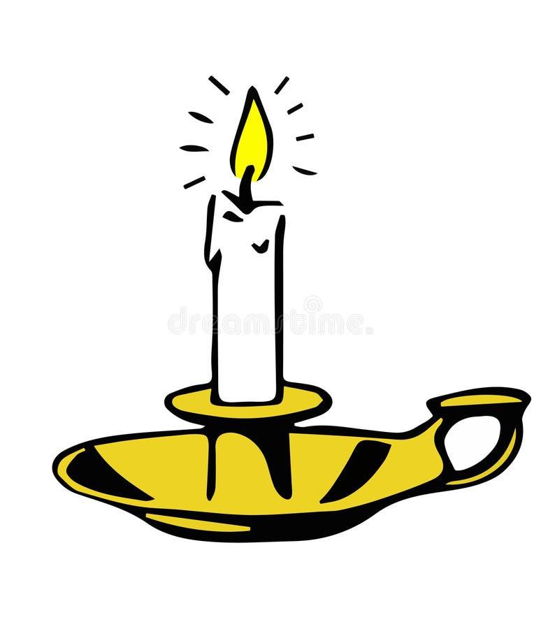 Download Candlestick Holder stock illustration. Illustration of candle - 31704096