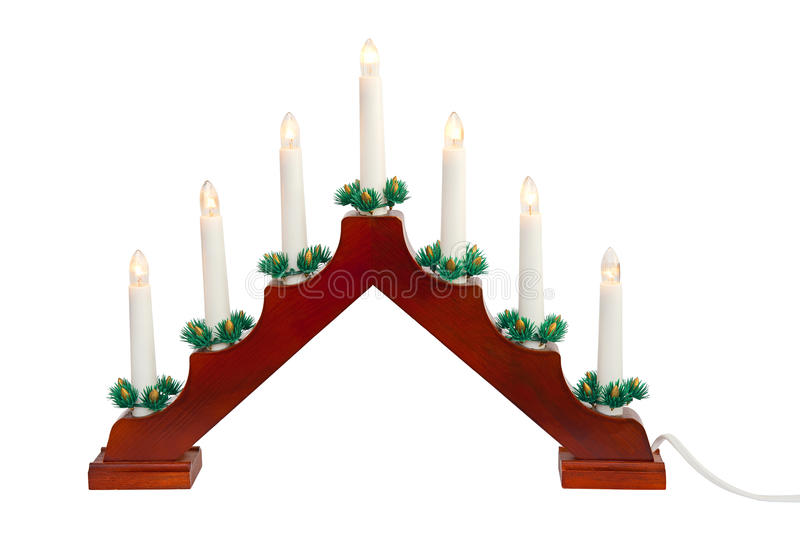 Candlestick. Isolated on the white background royalty free stock images