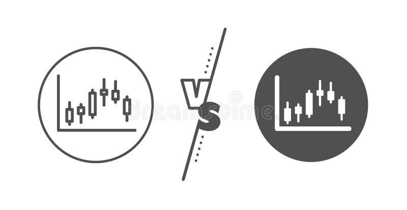 Candlestick mapy linii ikona Pieni??ny wykres wektor ilustracji