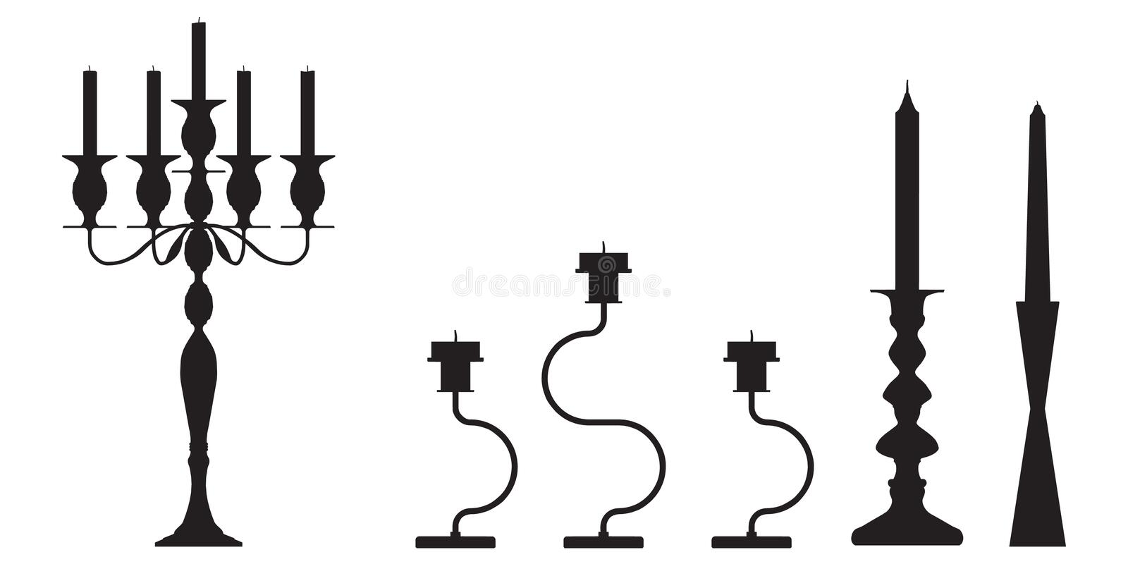 Download Candlestick  Outline Silhouette Stock Illustration - Image: 23595030