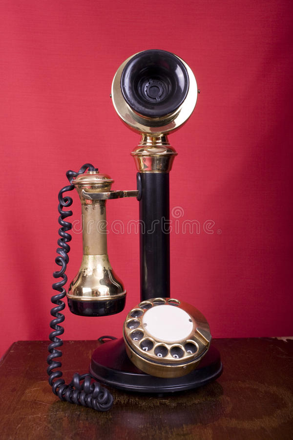 Download Candlestick Phone on Table stock image. Image of dial - 11521887