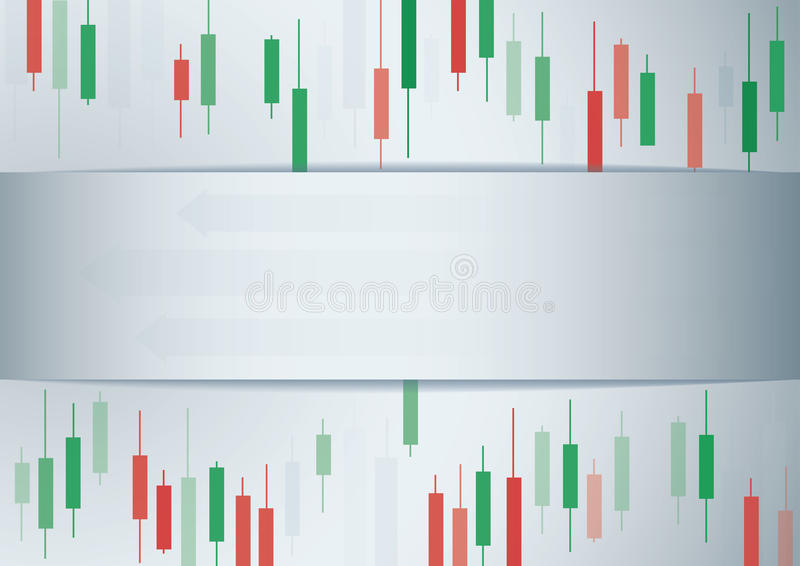 Candlestick stock exchange background vector royalty free illustration