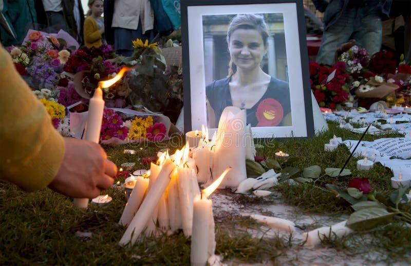 Candllelit-Nachtwache für ermordeten Parlamentarier, Jo Cox lizenzfreies stockfoto
