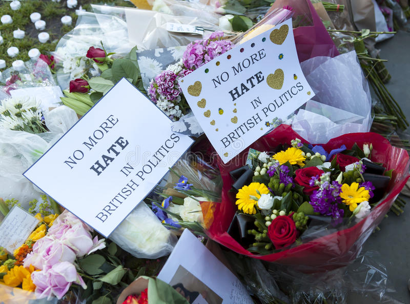 Candllelit Vigil for Murdered MP, Jo Cox royalty free stock image
