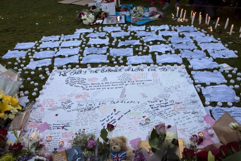 Candllelitwake voor Moorde MP, PB Cox stock fotografie