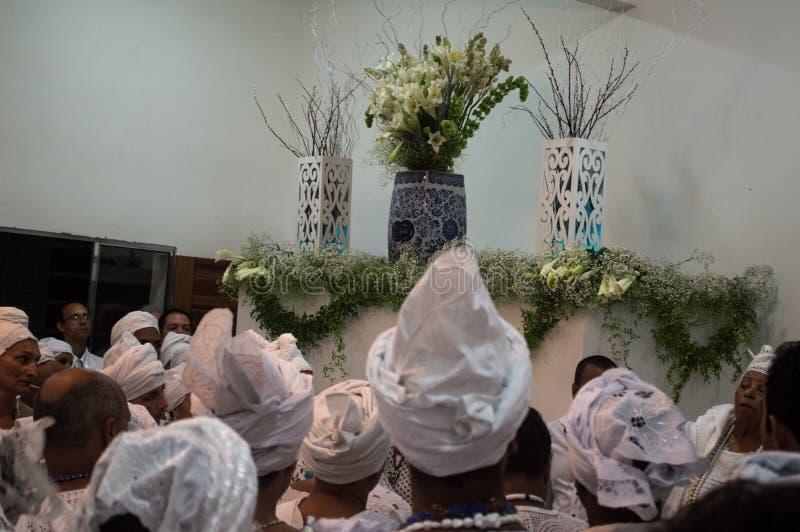 Candombe unik ceremoni arkivbilder