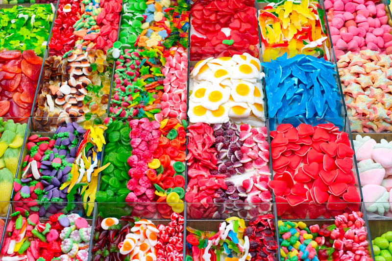 Candy. Heap of colorful candy close-up royalty free stock photo