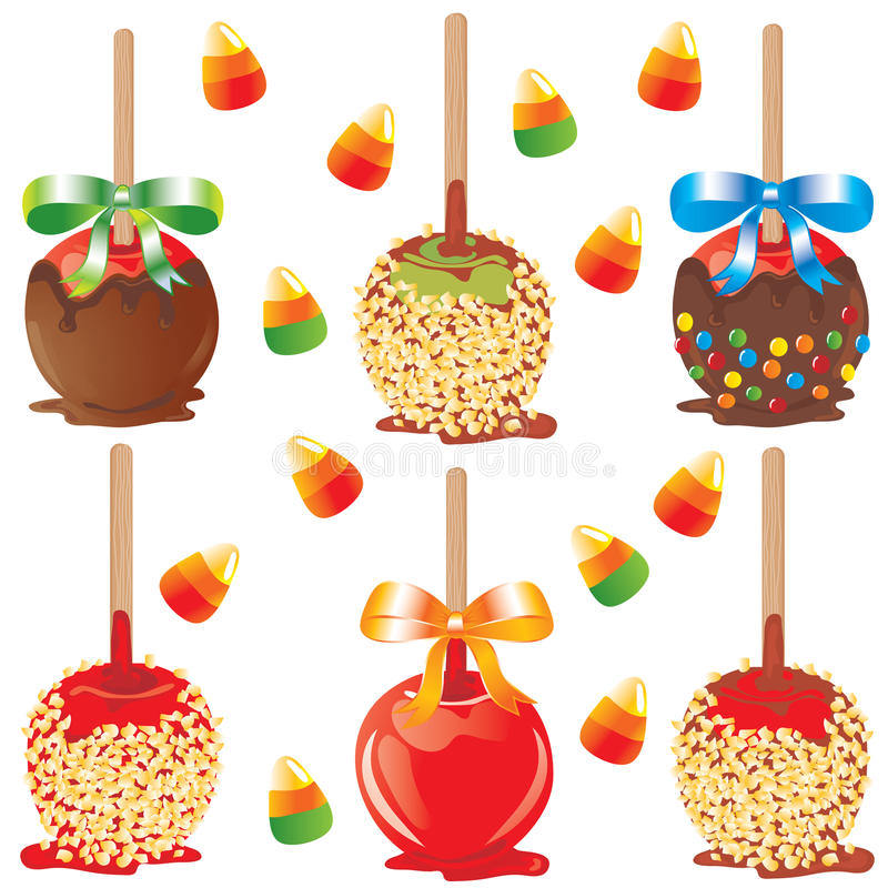 Download Candy apple treats stock vector. Image of halloween, fall - 11055258