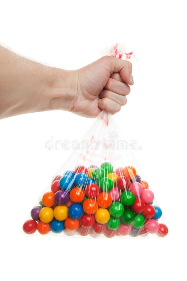 Candy bag stock photo