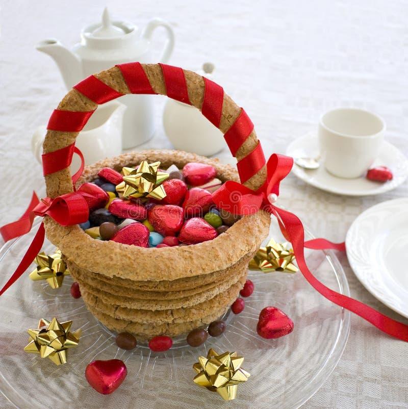 Candy basket stock photo