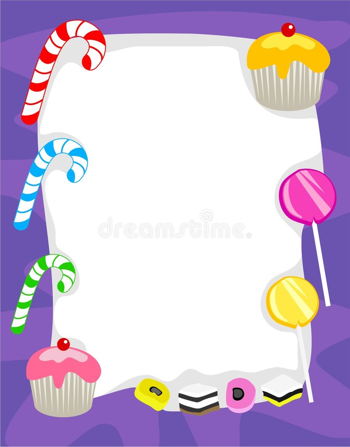 Candy Border. Tasty candy page border. Useful for creating your own posters, invitations and greetings etc