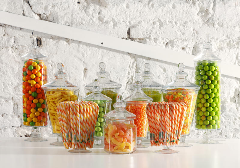 Candy bowls royalty free stock image
