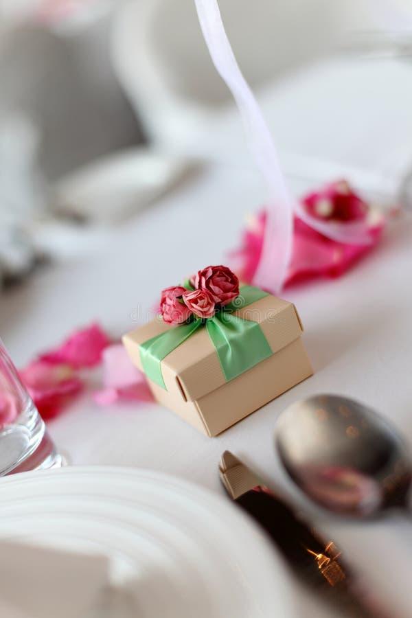 Candy box at wedding stock photos