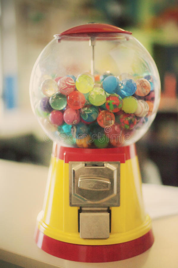 Candy bubblegum toy machine soft royalty free stock image