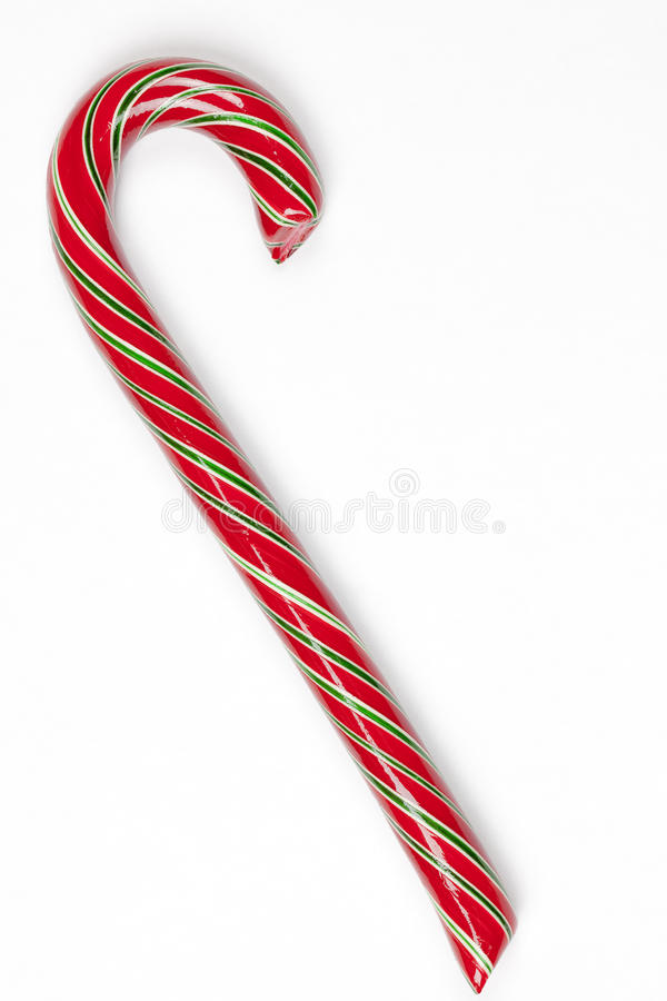Candy Cane. Isolated on a White Background royalty free stock image