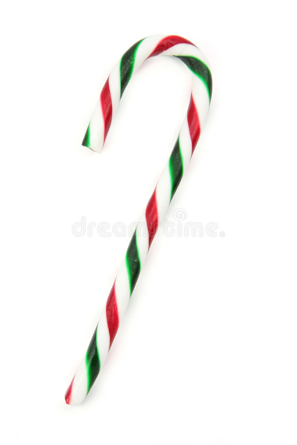 Candy cane. Ornaments with white background royalty free stock photos