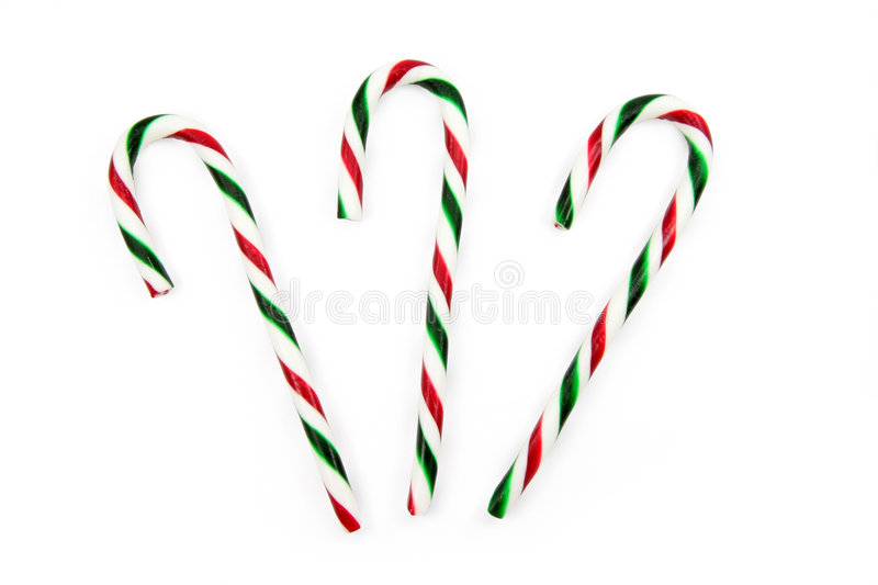 Candy cane. Ornaments with white background royalty free stock images