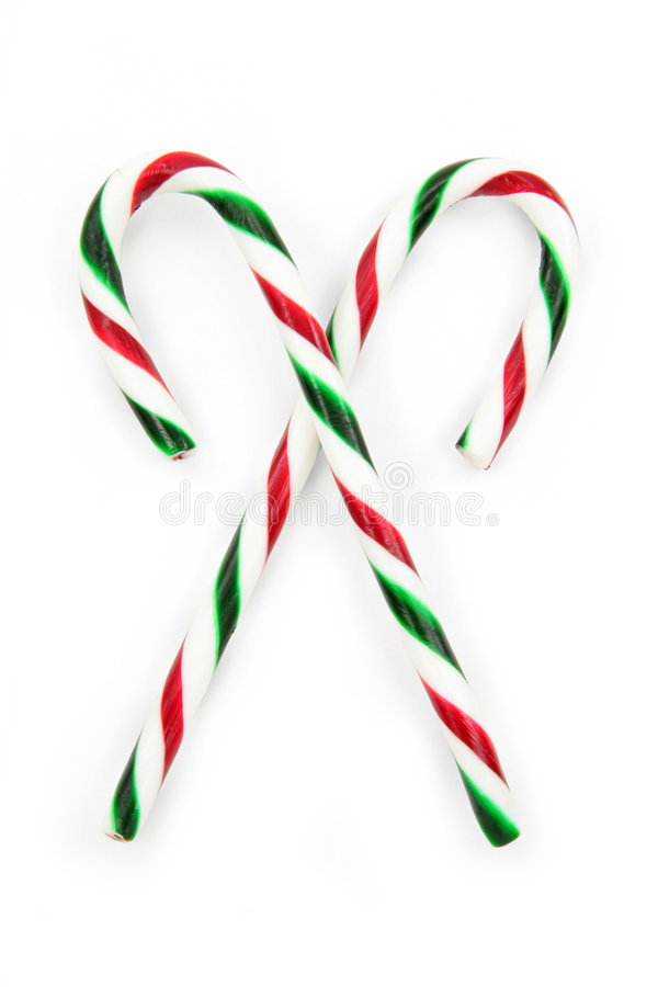 Candy cane. Ornaments with white background royalty free stock photo