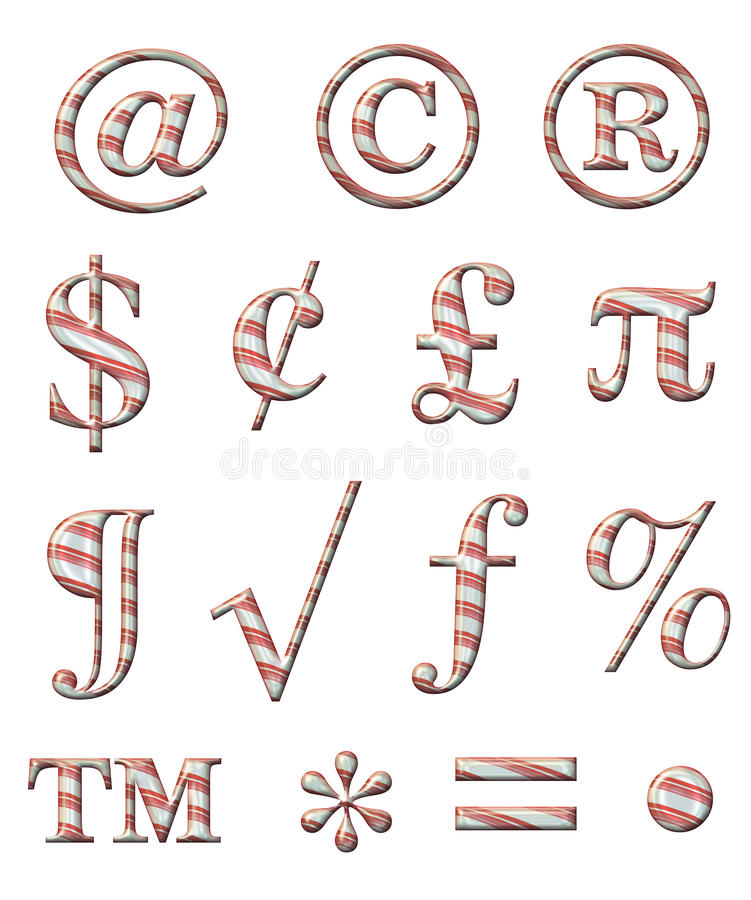 Download Candy Cane Alphabet stock illustration. Image of candy - 34613486