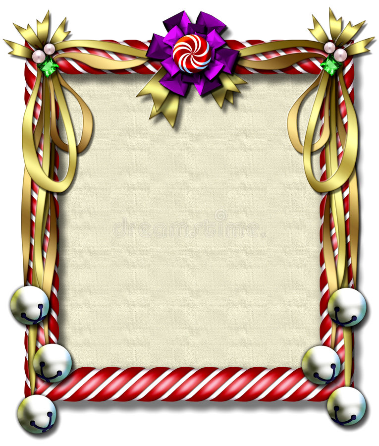 Candy Cane-bell Frame Royalty Free Stock Photography
